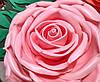 Роза розовая. Ростовые цветы из изолона.