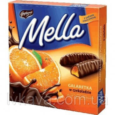 Конфеты желе в шоколаде Mella Goplana апельсин  , 190 гр, фото 2