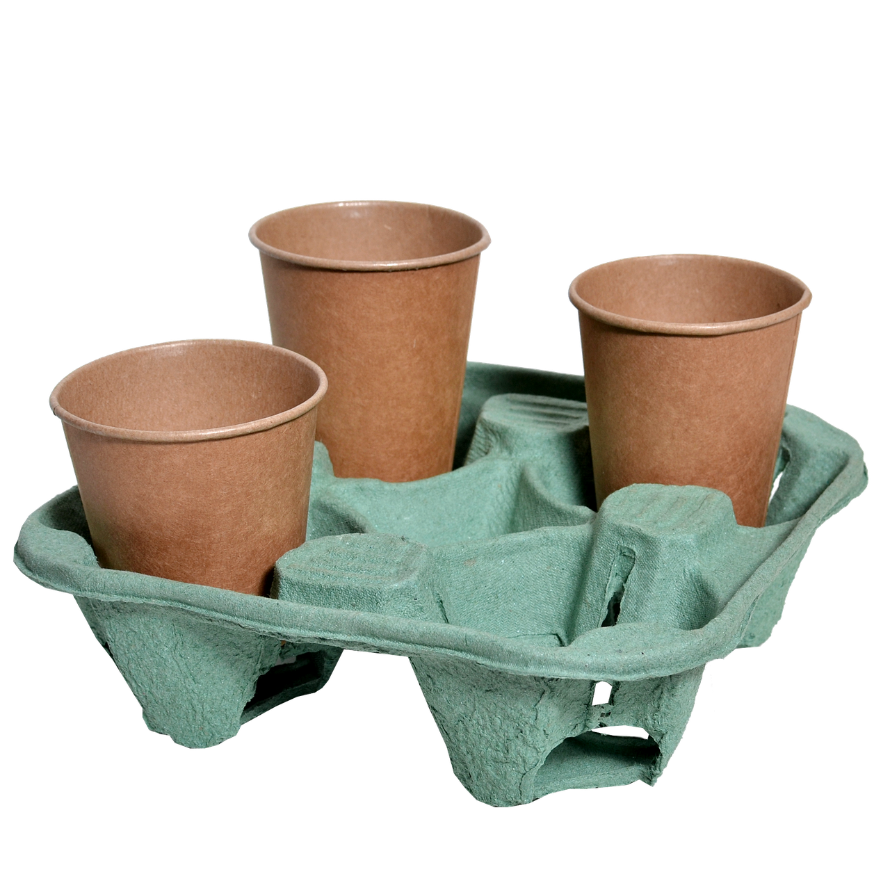 Подставка для стакана на 4 секции, 1шт (1уп/130шт) Зеленая