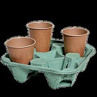 Подставка для стакана на 4 секции, 1шт (1уп/130шт) Зеленая, фото 1