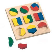 Пазл Геометрические фигуры Bino 84029 (16х16х2см)