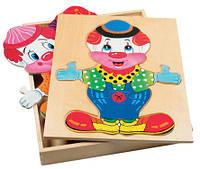 Пазлы Гардероб клоуна Bino 88001 (16,5x20,5x2,5 см)
