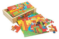 "6 Пазлов в коробке ""Сказка""  Bino 88013 (20x14x4 cm )"