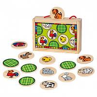 Игра Найти пару Животные Bino 84041 (16х11х4см,24 дет)