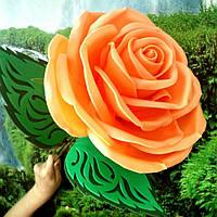Роза абрикосовая. Ростовые цветы из изолона.