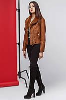 11 Kiro Tokao | Демисезонная женская куртка 4575 коричневый