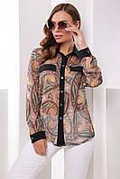 Donna-M Рубашка 1787 коричневый , фото 1