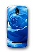 Чехол для HTC Desire 500 (голубая роза)