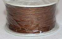 Шнур вощёный коричневый  3307  1 мм х 1 м