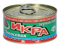 Икра форелевая 140гр сик красная лососевая Юж. Сахалинск метал банка, фото 1