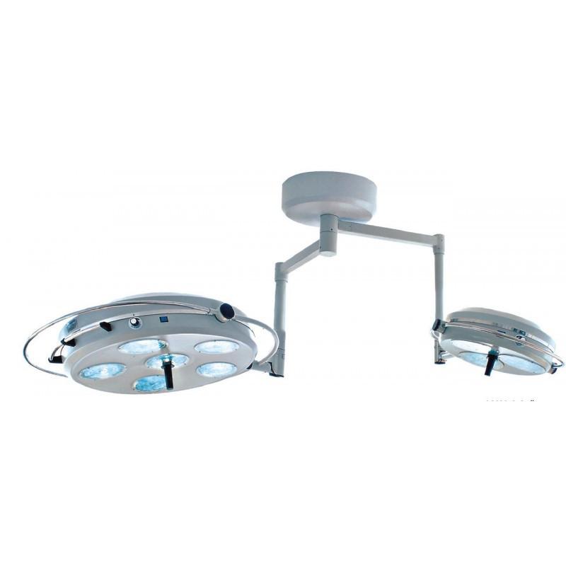Светильник хирургический L2000 6+3-II-девятирефлекторный потолочный (два блока, 6+3)
