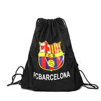 Сумка мешок футбольный клуб Barcelona черная, фото 1
