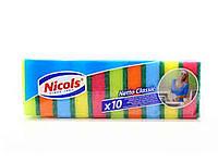 Губка для кухни NETTO CLASSIC зеленая 10 шт ТМ NIKOLS
