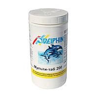 Мульти-таб 200, 1кг - комбинированные таблетки хлора, Delphin