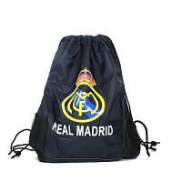 Сумка мешок футбольный клуб Real Madrid черная, фото 1