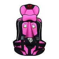 Детское бескаркасное автокресло AnnBaby розовое