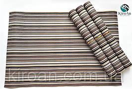 Коврики-подложки для сервировки стола (сетка) набор 4шт 30х45см (коричневый)