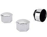 Защитные колпачки на колесные гайки 17 мм с секретными болтами (пластик хром), фото 5