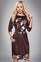 Платье с розами большой размер