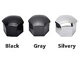 Защитные колпачки на колесные гайки 17 мм с секретными болтами (пластик хром), фото 7