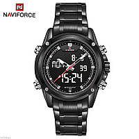 Мужские наручные часы Naviforce NF9050M Dual Movt Men Quartz Analog Digital LED , фото 1