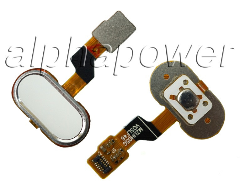 Кнопка сенсорная для смартфона Meizu M3s белая