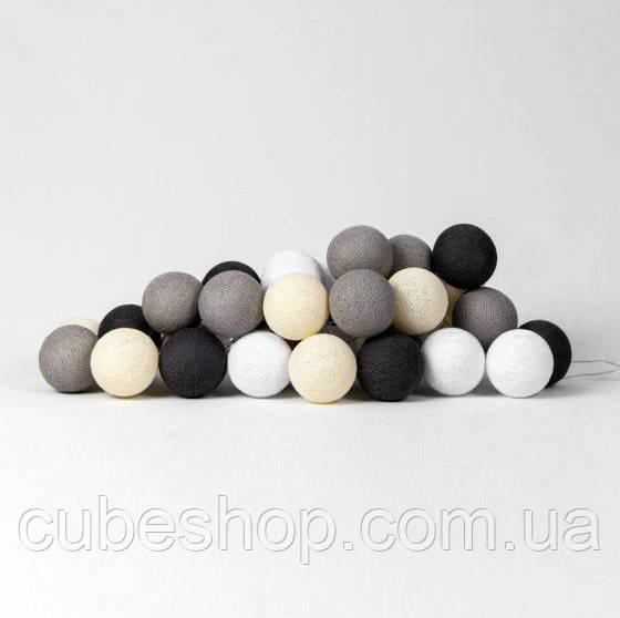 """Тайская гирлянда """"Taupe"""" (20 шариков) петля"""