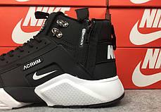 "Зимние кроссовки Nike Huarache Acronym Winter ""Black/White"" (Черные/Белые), фото 2"