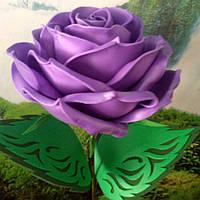 Роза сиреневая. Ростовые цветы из изолона.
