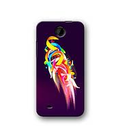 Чехол для HTC Desire 300 (цветные полоски)