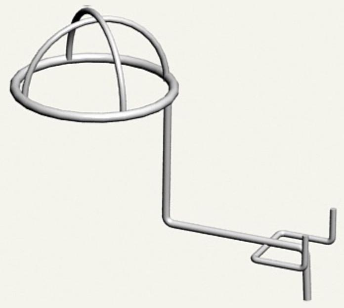Торговий крючок для шапок полусферичний на перфорований метал - 10шт
