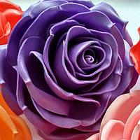 Роза сиреневая. Ростовые цветы из изолона., фото 1