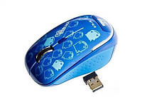2.4G wireless Mouse E-BLUE Monster Babe EMS103BL blue