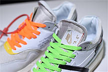 "Кроссовки Off-White x Nike Air Max 87 Retro ""White"" (Белые), фото 2"