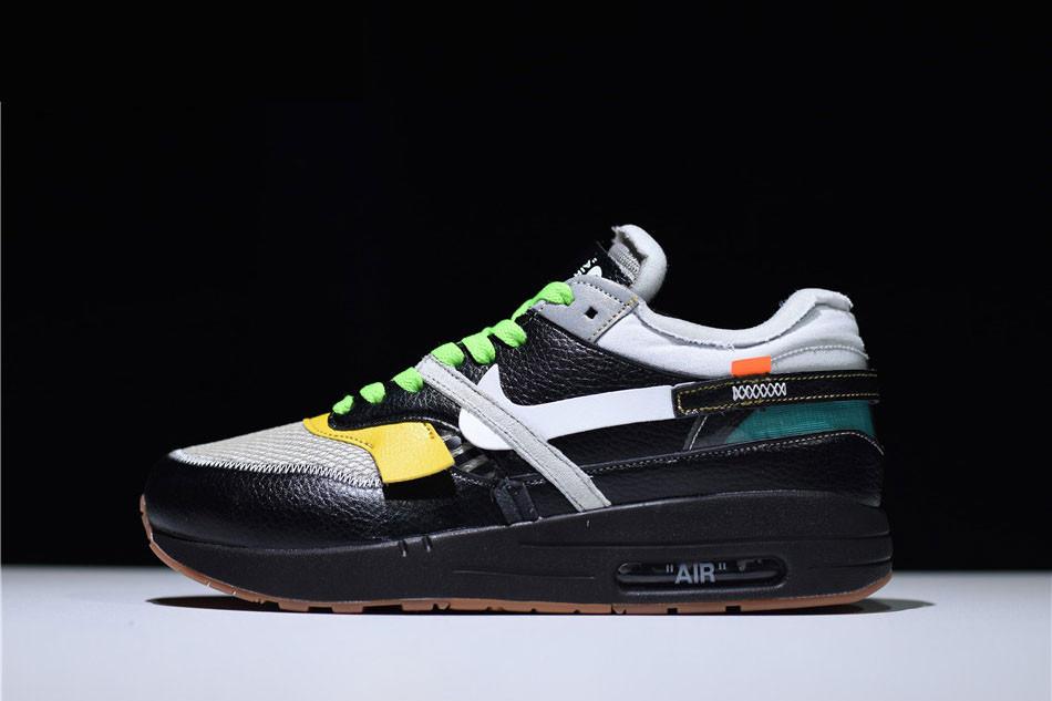 "Кроссовки Off-White x Nike Air Max 87 Retro ""Black"" (Черные)"