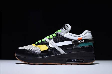 "Кроссовки Off-White x Nike Air Max 87 Retro ""Black"" (Черные), фото 2"
