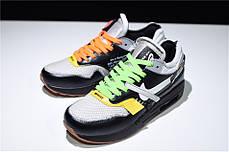 "Кроссовки Off-White x Nike Air Max 87 Retro ""Black"" (Черные), фото 3"