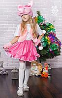 """Дитячий новорічний костюм для дівчинки """"Хрюша"""""""