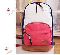 Молодежный рюкзак городской синий с красным 3