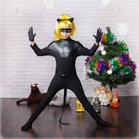 """Детский карнавальный костюм """"Супер кошка"""" черный"""