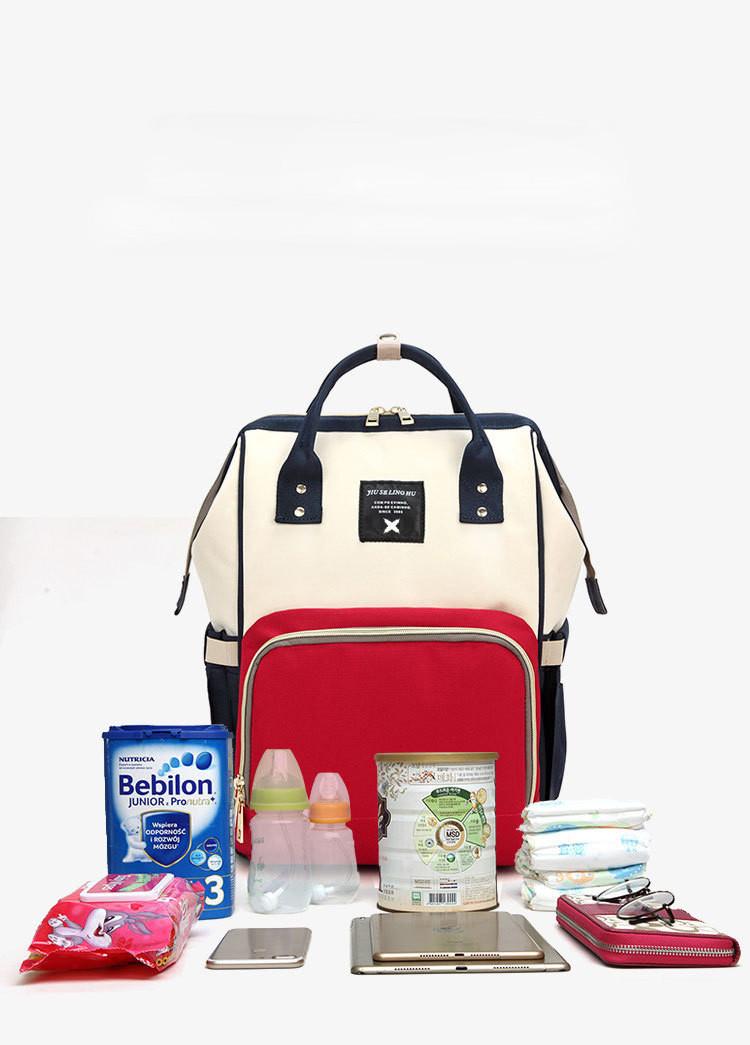 Рюкзак-органайзер для мам и детских принадлежностей цветной