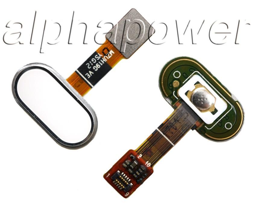 Кнопка сенсорная для  смартфона Meizu M5 белый
