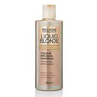 Шампунь для волос усиливающий цвет волос Liquid Blonde Colour Infusion Shampoo  Lambre / Ламбре 200 ml