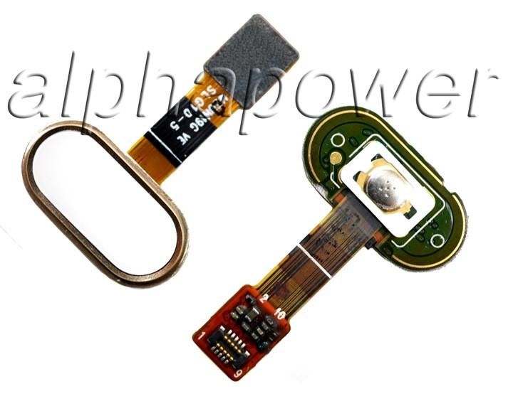 Кнопка сенсорная для  смартфона Meizu M5 золотой