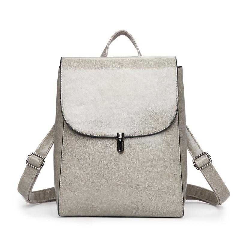 53bc8a7dce91 Рюкзак-сумка женская серая из качественной экокожи купить по ...