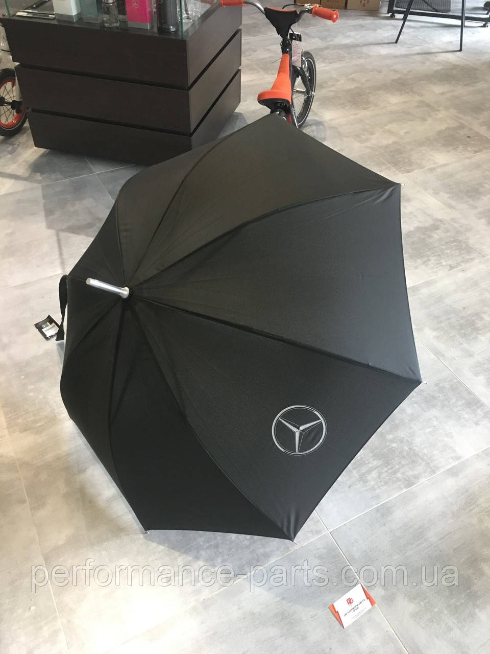 Зонт-трость Mercedes-Benz Collektion Stick Umbrella Black, B66952629. Оригинал. Черного цвета.