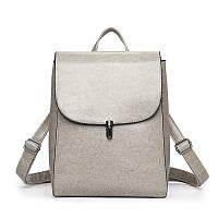 Рюкзак-сумка женская серая из качественной экокожи опт, фото 1