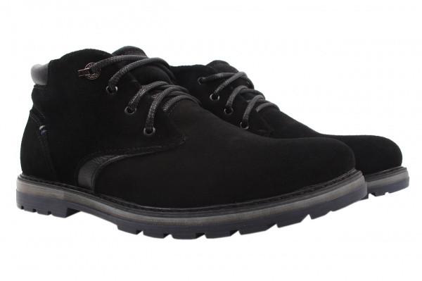 Ботинки Golovin натуральная замша, цвет черный