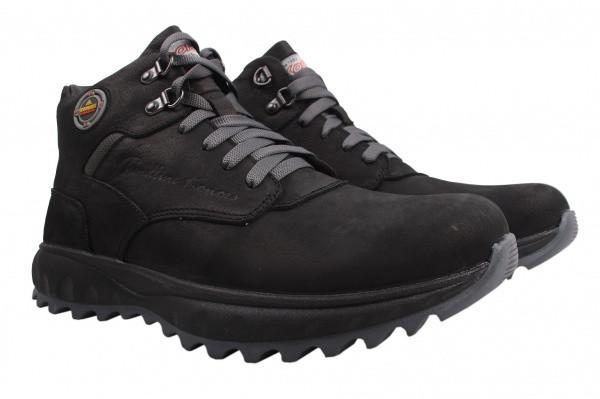 Ботинки Konors нубук, цвет черный