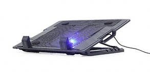 "Охлаждающая подставка для ноутбука Gembird NBS-1F17T-01 Black 17"""